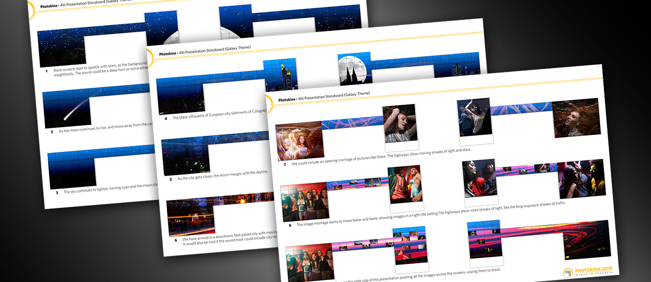 Storyboards for large-scale multimedia display