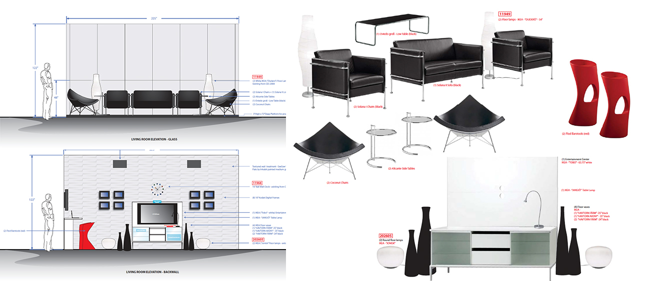 Elevations and prop sourcing for home environments
